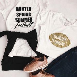 Sunday Funday Sparkle Football T-Shirt